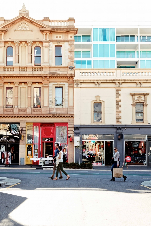 Carefully designed frontages can add to a city's authenticity and character