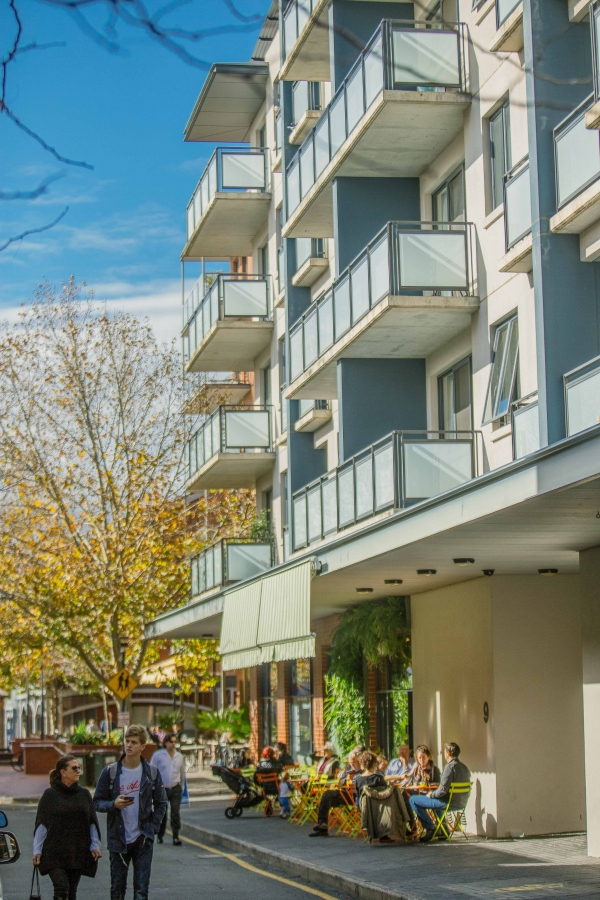 Residential apartments above street level are an example of City Form, the area above awning or canopy level