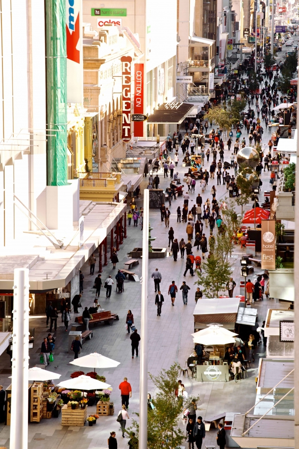 The Adelaide Design Manual places pedestrians as the priority street user