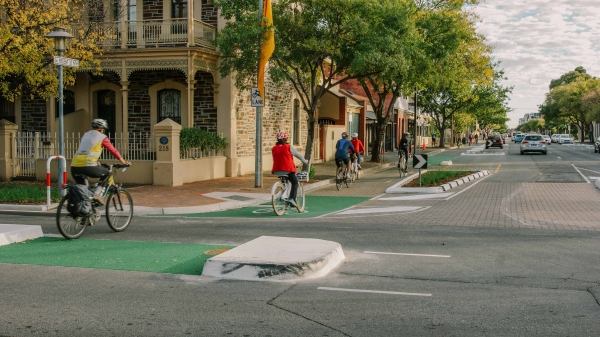 Design measures such as separated cycle lanes help reduce conflicts between bicycles and other street users